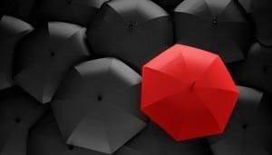 Regenschirm als Werbegeschenk