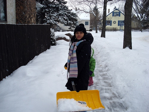 snow shovel photo